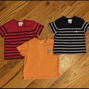 Bundle of Ralph Lauren T-Shirts Size 6m